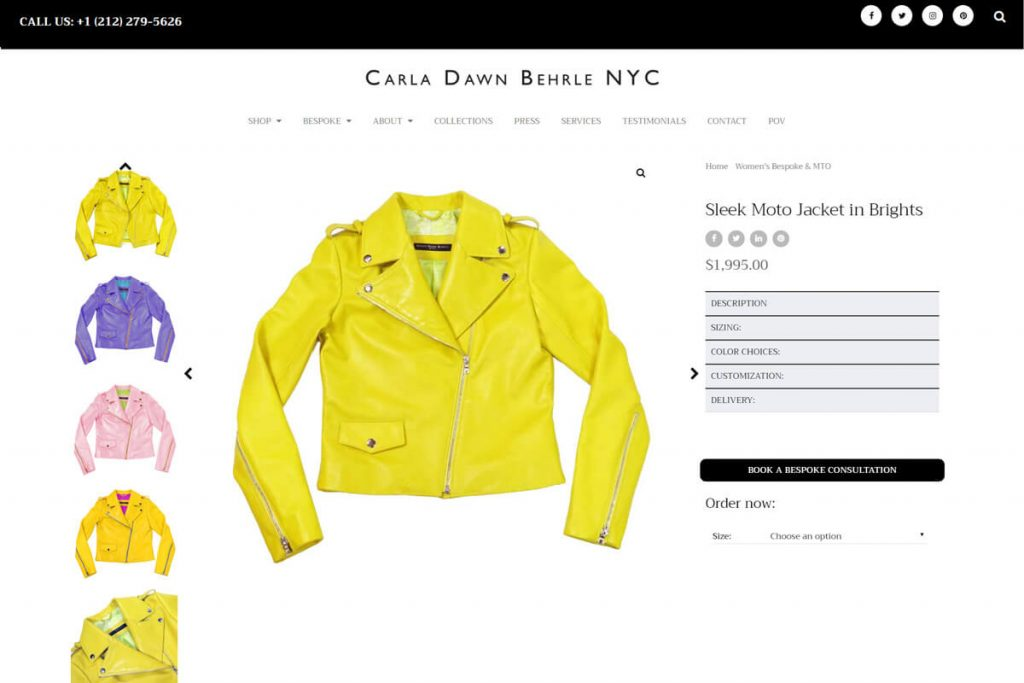 Brightly colored Moto Jacket by Carla D Behrle
