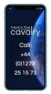 mobile phone image for here's the cavalry call contact call 01273251573